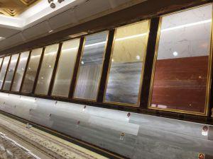De grijze Verglaasde Opgepoetste die Tegels van de Vloer van het Porselein in China 800X800mm worden gemaakt (SD10428)