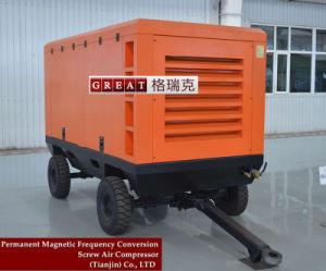 디젤 엔진 휴대용 2단계 나사 공기 압축기