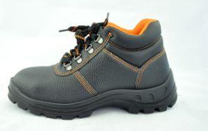 Zapatos de seguridad de cuero con el calzado de acero del dedo del pie y de la placa S1/S2 a prueba de ácido y el álcali resistente