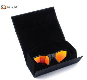 Logo personnalisé en PVC de meilleure qualité et de velours et capable de repliage des lunettes de soleil Boîte de rangement