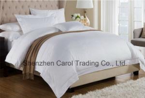 贅沢で明白で白い綿繻子のホテルの供給の寝具セット