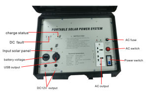 Portable Home Outdoor de petits panneaux solaires Kit de l'énergie solaire du générateur de charge du système de génération d'alimentation Portable générateur d'énergie solaire pour le camping