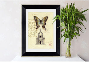 Home Decoration Hotel/HoのためのFrame Frame Photo、Frame Picture BuildingおよびButterfly Pictureの2015新しいFasion Modern Promotional Picture Art Wall Paintings