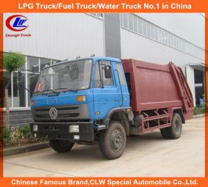 130HP 170HP Dongfengの圧縮されたごみ収集車12のCBMのコンパクターのガーベージの手段
