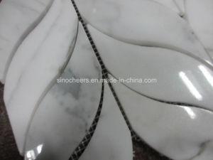 Calacattaの白い大理石の床タイル