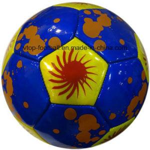 Cosida a máquina de fútbol de PVC para el Deporte