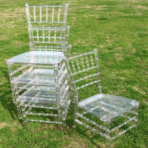 싸게 Chiavari 명확한 플라스틱 의자를 겹쳐 쌓이기
