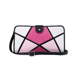 Geométrica con retazos y colores de contraste diseñador de las mujeres bolsa (MBNO041001)