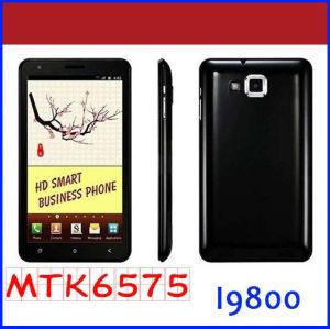 Kaipai F6 I9800 Celular Mtk6575 6.0 polegadas sensível ao toque Qhd 4.0.4 SO Android 8MP 2 MP WiFi Phone