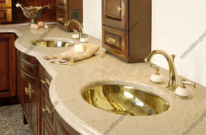 De Bovenkant/Countertop van de Ijdelheid van het marmer/van het Graniet voor Keuken, Badkamers