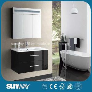 Gabinete de banheiro de MDF de estilo quente com gabinete de espelho com estilo europeu (SW-1313)
