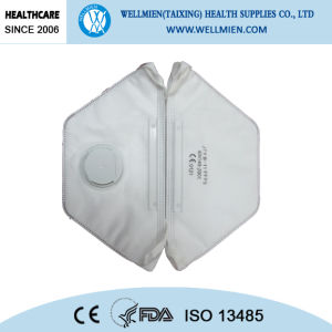Mascherina di polvere a gettare di sicurezza con il ciclo dell'orecchio