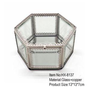 De nieuwste Verpakkende Doos van de Gift van de Juwelen van het Glas van het Ontwerp Hexagon