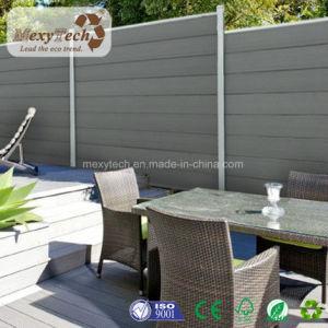 Jardín compuesto de polímero de madera Panel de cerco de privacidad