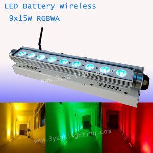 15WX9 Batería inalámbrico bañador de pared LED de 5en1