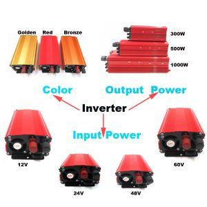 De Prijs van de fabrikant 500W gelijkstroom 60V aan AC 110V 220V de Omschakelaar van de Macht van de Enige Fase