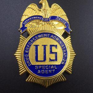 Latão personalizada de fábrica de metais de liga de zinco monograma da polícia