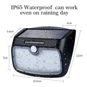 48のLEDの動きセンサーの取り外し可能な太陽壁ライトをつける防水機密保護