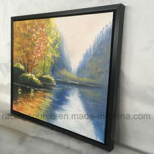 A lona de arte moldada da parede imprime a pintura a óleo da paisagem da pintura acrílica