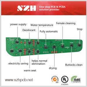 2 Capas Fr4 Smart bidé PCBA Fabricante de la placa de circuito