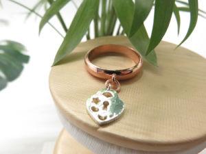 Conclusions du fabricant de bijoux pendentif fraise deux anneaux de placage de tonalité