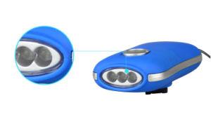 긴급 점화 토치 3 LED 수동 크랜크 다이너모 플래쉬 등