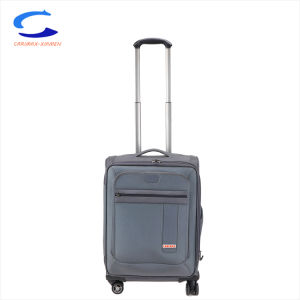 OEM fábrica cian gris 22 mezcla de nylon balístico duradero de rodadura de giro del volante de 8 maleta de viaje frente bolsa para portátil de seguridad equipaje carro telescópico de candado