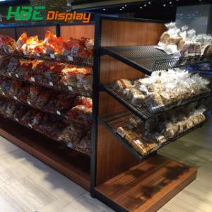 4 couches de bois Pain alimentaires Boulangerie multicouche de présentoir Stand