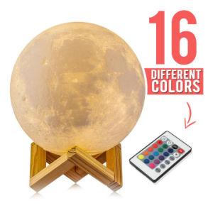 Batteria ricaricabile a comando a tocco del USB di colori dell'indicatore luminoso 2 di notte della lampada della luna del vinile all'interno di 8cm