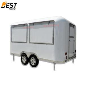 Runde Ecken-Quadrat-beweglicher Schnellimbiß Van für Verkauf