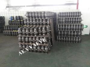 Aço Carbono norma GOST Caixa Gea solde totalmente a extremidade flangeada duplo corpo as válvulas de esfera de montagem do munhão