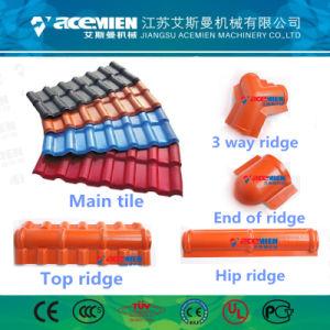 Deux tuiles en plastique de la couche plastique espagnol tuile de toit de la machine