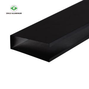 Revêtement en poudre noire de gros de l'aluminium métallique suspendue au plafond du déflecteur