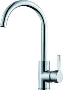 En 2018 Cuisine Salle de bains d'eau froide du robinet mélangeur de lavage salle de douche seule poignée en laiton plaque Chrome robinet du bain touchez à levier unique bassin Cascade du dissipateur de robinet de cuisine