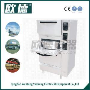 Fornello di riso elettrico d'approvvigionamento del grande volume di produzione in lotti con le vaschette antiaderanti del riso