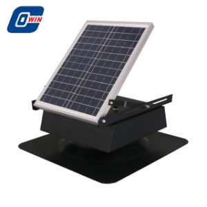 20W regulable Leafproof Rechargeabel Ventilador Solar Panel Solar con batería de almacenamiento