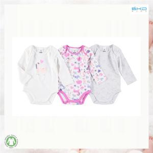 0-24m 긴 소매 아기는 소녀 아기 Onesie를 입는다