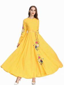 El algodón largo con muchos colores Moda Mujer vestido de prendas de vestir