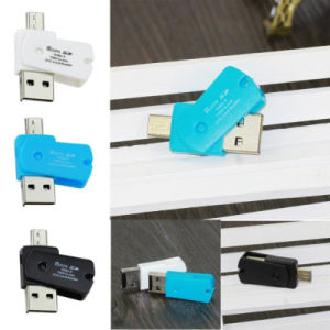Mini Micro adaptateur OTG USB 2.0+TF Lecteur de carte Micro SD pour téléphones Android Exteral Lecteur de carte SD USB portable Suppion