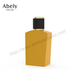 Bouteille de parfum en verre haute qualité avec du grain du bois