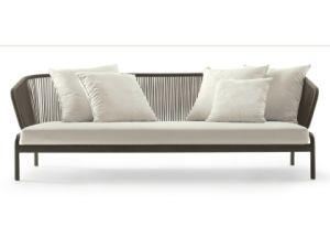 Mobiliário elegante estrutura de alumínio no exterior a corda Sofá Definido