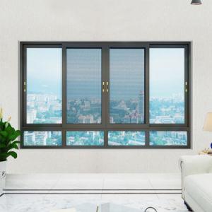 Maison pas chère salon Chambre grandes cadres en aluminium Double vitrage Glaces en verre, fenêtre coulissante en aluminium