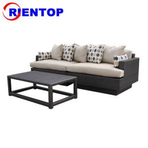 Sofá de vime Combinação Sofá Definir Mobiliário de exterior Sofá Definir Sofá pátio jardim Sofá sofá de Lazer