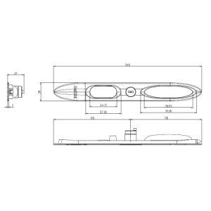 Aluminiumtür-Befestigungsteil-Griff-Verschluss für Metalltür