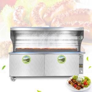 aço inoxidável comerciais de suínos churrascos antracite Spit Ustulação Rotisserie Churrasqueira