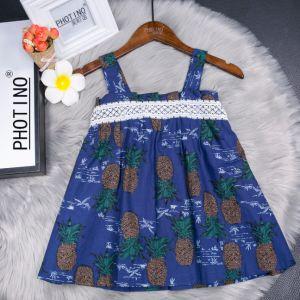 Les vêtements pour enfants La fille de nouveau été Hight Quitly Halter Dress