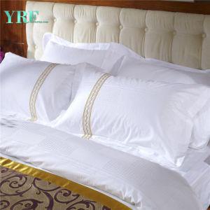 Yrf el 100% algodón bordado blanco cubierta de la funda de almohada