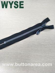5# El Plástico Zipper, C/E, dientes de plata