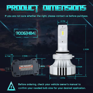 Comercio al por mayor de 72W de alta la luz de cruce F2 Kit de faros LED LED de Osram 9006 Faro automático