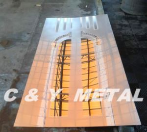 Specchio che incide lo strato dell'acciaio inossidabile per il portello